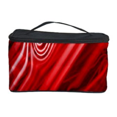 Red Abstract Swirling Pattern Background Wallpaper Cosmetic Storage Case
