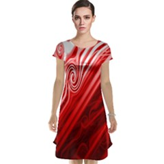 Red Abstract Swirling Pattern Background Wallpaper Cap Sleeve Nightdress