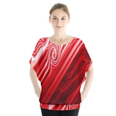Red Abstract Swirling Pattern Background Wallpaper Blouse
