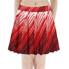 Red Abstract Swirling Pattern Background Wallpaper Pleated Mini Skirt