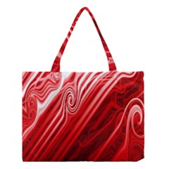 Red Abstract Swirling Pattern Background Wallpaper Medium Tote Bag