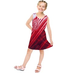 Red Abstract Swirling Pattern Background Wallpaper Kids  Tunic Dress