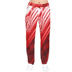 Red Abstract Swirling Pattern Background Wallpaper Drawstring Pants