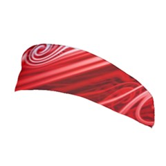 Red Abstract Swirling Pattern Background Wallpaper Stretchable Headband