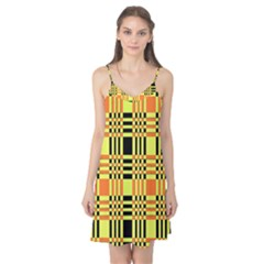 Yellow Orange And Black Background Plaid Like Background Of Halloween Colors Orange Yellow And Black Camis Nightgown