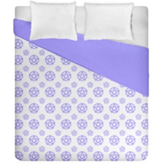 White And Lilac Pentacle Pagan Wiccan Duvet Cover Double Side (california King Size)