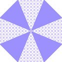 Lilac and White Pagan Pentacle Wiccan Folding Umbrella View1