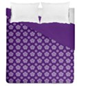 Deep Purple White Pentacle Pagan Wiccan Duvet Cover Double Side (Queen Size) View1