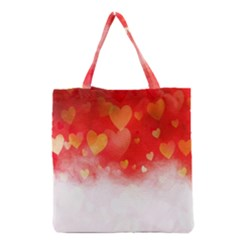 Abstract Love Heart Design Grocery Tote Bag