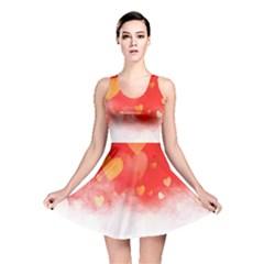 Abstract Love Heart Design Reversible Skater Dress