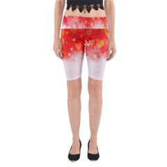 Abstract Love Heart Design Yoga Cropped Leggings