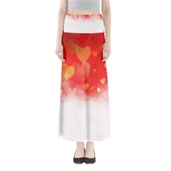 Abstract Love Heart Design Maxi Skirts