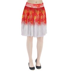 Abstract Love Heart Design Pleated Skirt