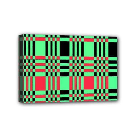 Bright Christmas Abstract Background Christmas Colors Of Red Green And Black Make Up This Abstract Mini Canvas 6  X 4