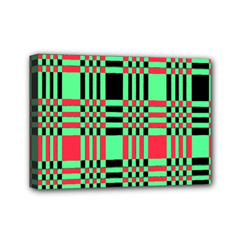 Bright Christmas Abstract Background Christmas Colors Of Red Green And Black Make Up This Abstract Mini Canvas 7  X 5