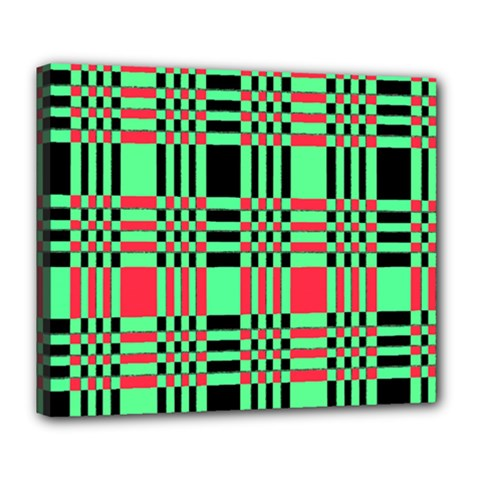 Bright Christmas Abstract Background Christmas Colors Of Red Green And Black Make Up This Abstract Deluxe Canvas 24  X 20