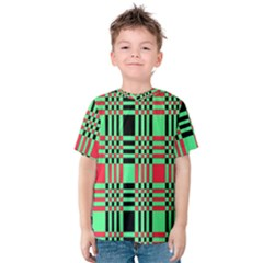 Bright Christmas Abstract Background Christmas Colors Of Red Green And Black Make Up This Abstract Kids  Cotton Tee
