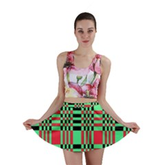Bright Christmas Abstract Background Christmas Colors Of Red Green And Black Make Up This Abstract Mini Skirt