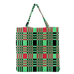 Bright Christmas Abstract Background Christmas Colors Of Red Green And Black Make Up This Abstract Grocery Tote Bag