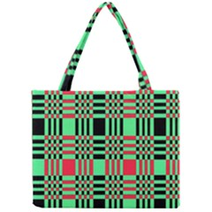 Bright Christmas Abstract Background Christmas Colors Of Red Green And Black Make Up This Abstract Mini Tote Bag