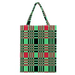 Bright Christmas Abstract Background Christmas Colors Of Red Green And Black Make Up This Abstract Classic Tote Bag