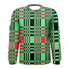 Bright Christmas Abstract Background Christmas Colors Of Red Green And Black Make Up This Abstract Men s Long Sleeve Tee