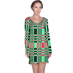 Bright Christmas Abstract Background Christmas Colors Of Red Green And Black Make Up This Abstract Long Sleeve Nightdress