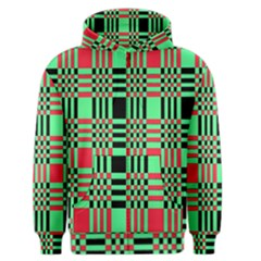 Bright Christmas Abstract Background Christmas Colors Of Red Green And Black Make Up This Abstract Men s Zipper Hoodie