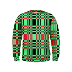 Bright Christmas Abstract Background Christmas Colors Of Red Green And Black Make Up This Abstract Kids  Sweatshirt