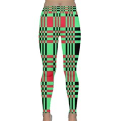 Bright Christmas Abstract Background Christmas Colors Of Red Green And Black Make Up This Abstract Classic Yoga Leggings