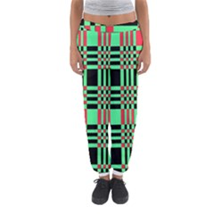 Bright Christmas Abstract Background Christmas Colors Of Red Green And Black Make Up This Abstract Women s Jogger Sweatpants