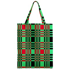 Bright Christmas Abstract Background Christmas Colors Of Red Green And Black Make Up This Abstract Zipper Classic Tote Bag