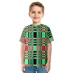 Bright Christmas Abstract Background Christmas Colors Of Red Green And Black Make Up This Abstract Kids  Sport Mesh Tee