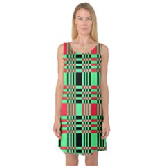 Bright Christmas Abstract Background Christmas Colors Of Red Green And Black Make Up This Abstract Sleeveless Satin Nightdress