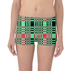 Bright Christmas Abstract Background Christmas Colors Of Red Green And Black Make Up This Abstract Boyleg Bikini Bottoms