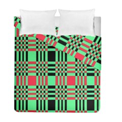 Bright Christmas Abstract Background Christmas Colors Of Red Green And Black Make Up This Abstract Duvet Cover Double Side (full/ Double Size)