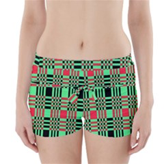 Bright Christmas Abstract Background Christmas Colors Of Red Green And Black Make Up This Abstract Boyleg Bikini Wrap Bottoms