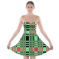 Bright Christmas Abstract Background Christmas Colors Of Red Green And Black Make Up This Abstract Strapless Bra Top Dress