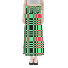 Bright Christmas Abstract Background Christmas Colors Of Red Green And Black Make Up This Abstract Maxi Skirts