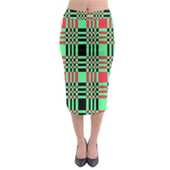 Bright Christmas Abstract Background Christmas Colors Of Red Green And Black Make Up This Abstract Midi Pencil Skirt