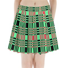 Bright Christmas Abstract Background Christmas Colors Of Red Green And Black Make Up This Abstract Pleated Mini Skirt