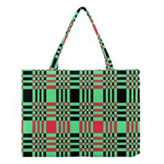 Bright Christmas Abstract Background Christmas Colors Of Red Green And Black Make Up This Abstract Medium Tote Bag