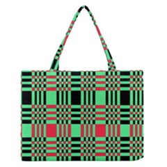 Bright Christmas Abstract Background Christmas Colors Of Red Green And Black Make Up This Abstract Medium Zipper Tote Bag