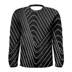 Chrome Abstract Pile Of Chrome Chairs Detail Men s Long Sleeve Tee