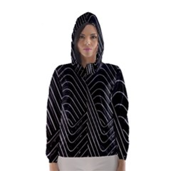 Chrome Abstract Pile Of Chrome Chairs Detail Hooded Wind Breaker (women)