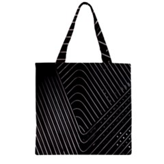 Chrome Abstract Pile Of Chrome Chairs Detail Zipper Grocery Tote Bag