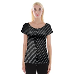 Chrome Abstract Pile Of Chrome Chairs Detail Women s Cap Sleeve Top