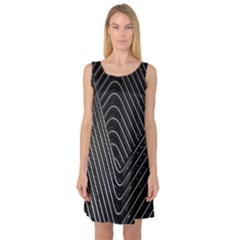 Chrome Abstract Pile Of Chrome Chairs Detail Sleeveless Satin Nightdress
