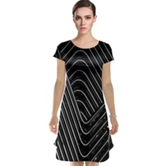 Chrome Abstract Pile Of Chrome Chairs Detail Cap Sleeve Nightdress