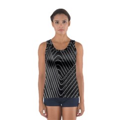 Chrome Abstract Pile Of Chrome Chairs Detail Women s Sport Tank Top